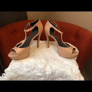 Jessica Simpson Pale Pink Open Toe Strap Sandal.